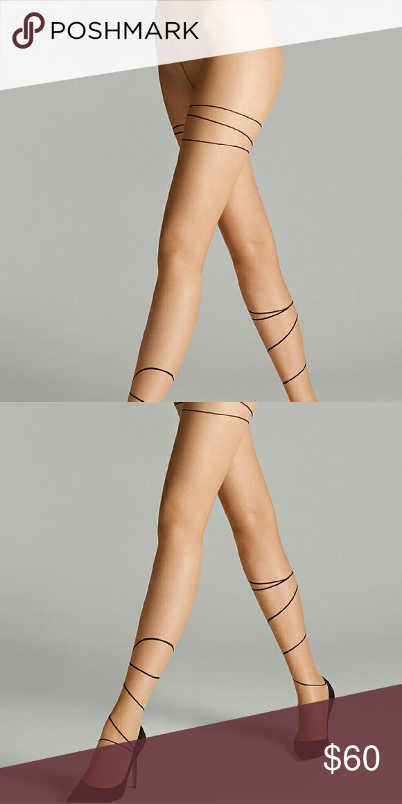 Wolford -- Allison Tights Brand new in Small and color in Gobi / Black Wolford Accessories Hosiery & Socks
