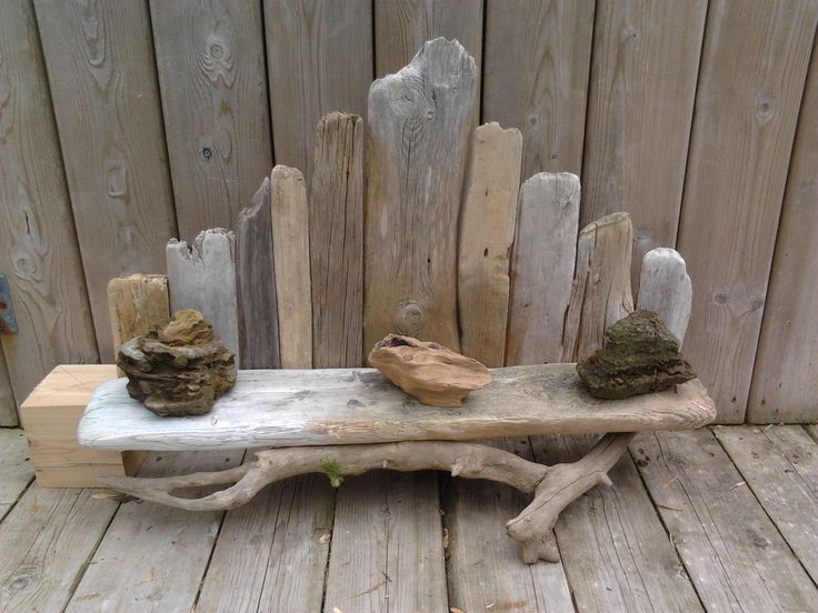 Driftwood shelf.