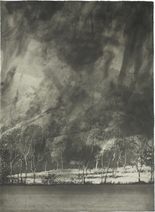 Norman Ackroyd(British, b.1938) Snowstorm at Cartmel Fell    1996