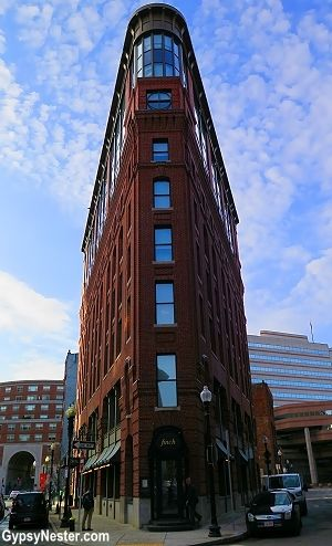 The Boxer Hotel in Boston is housed in a historical flatiron building - GypsyNester.com