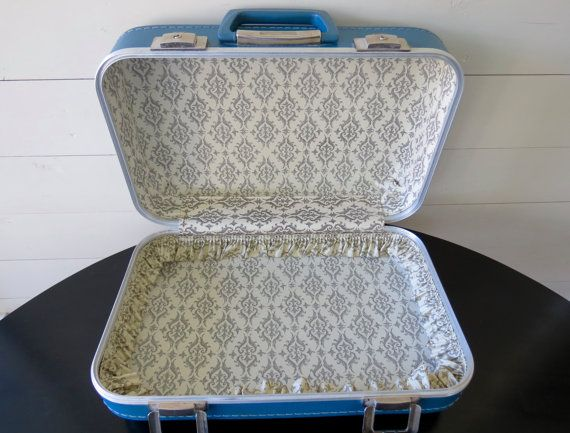 Small Suitcase  Classic 1960's Style Overnight by InTheWhiteBarn