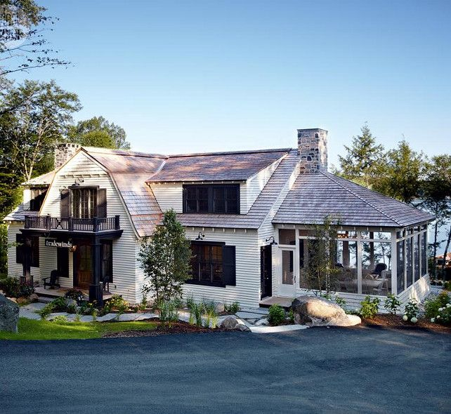 Lake Muskoka Cottage with Coastal Interiors. This lake cottage doesn't shy away from luxury and space, in fact, this vacation home is a brand new and beautiful 7,000-square-foot cottage that sits just above the shores of Muskoka's Lake Rosseau in Ontario.