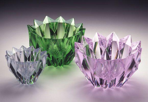 "Aimo Okkolin ""Lumpeenkukka (Water Lily)"" 1960, Riihimäki Glass Company, The Finnish Glass Museum"