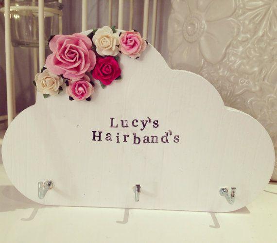 Custom Floral Cloud Girls Hairband Headband Holder Flower