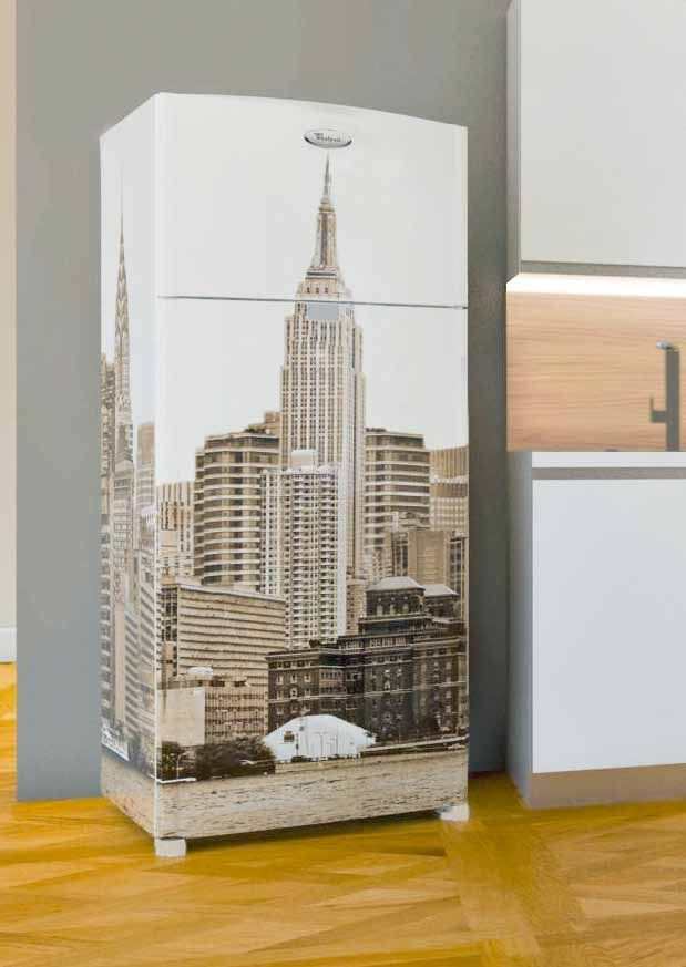 frigorifero Whirlpool New York colore sabbia