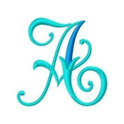 Free Embroidery Design Monogram 61-A | Gosia Design