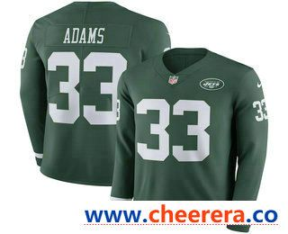 Men s New York Jets  33 Jamal Adams Nike Green Therma Long Sleeve Limited  Jersey ac83c1301