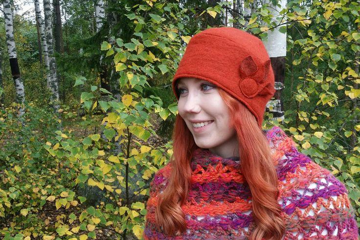Suppilo-malli. Syksyiset värit💚 #hat #hats #personaldesignhat #madeinfinland