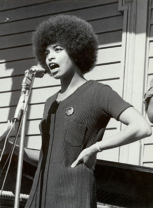 Angela Davis at Oakland Rally for Huey Newton, 1969. (Stephen Shames/The National Portrait Gallery)