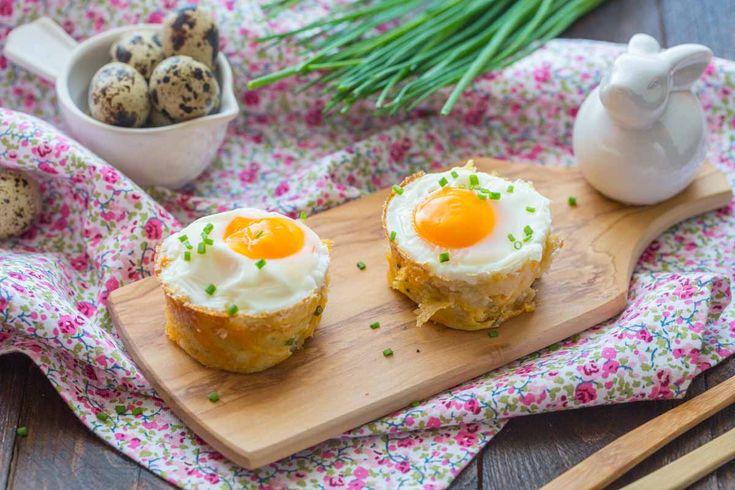 Des nids de röstis aux oeufs pour Pâques!