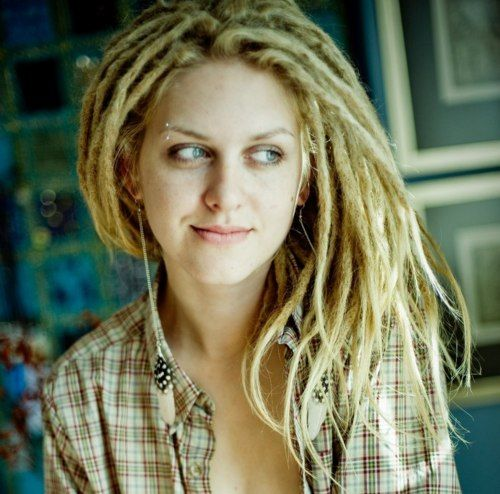 Blonde dreadlocks.