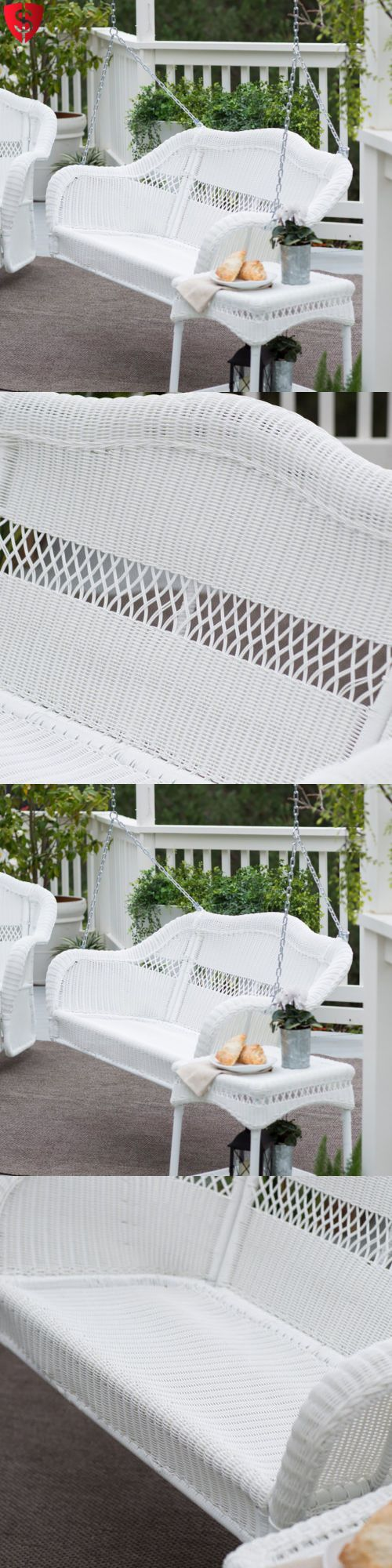 How to make seat cushions for dining chairs moreover white resin - Swings 79700 Wicker Porch Swing Resin Patio Hanging Furniture Seat Bench Outdoor 2 Person