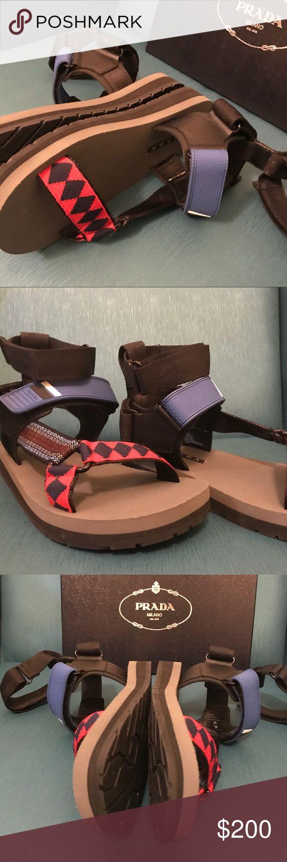 Prada Nastro Teva Sandals - Prada Size 7 Prada Nastro Teva Sandals-Prada Size 7, actually fits like American 9. Love them. Not for sale. Prada Shoes Sandals & Flip-Flops