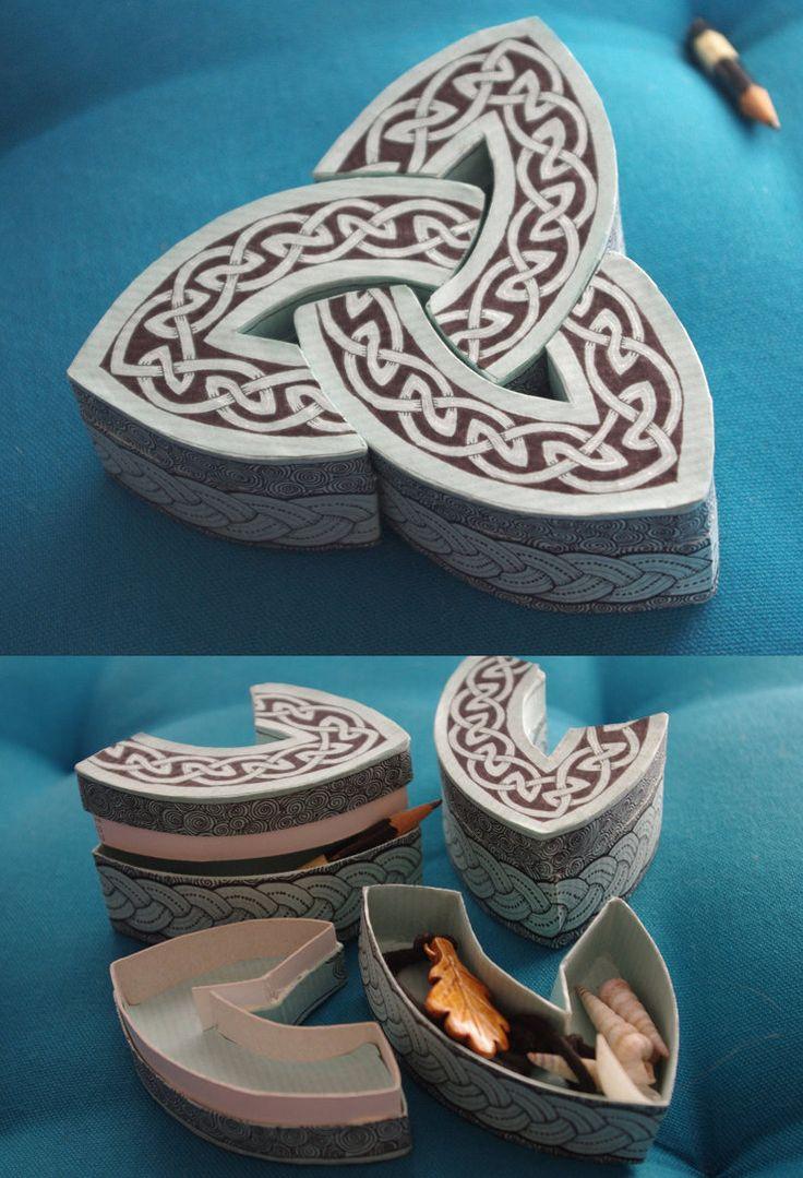 Knotwork box.: Crafty Boxes, Ideas, Celtic Knots, Celtic Crafts, Celtic Stuff