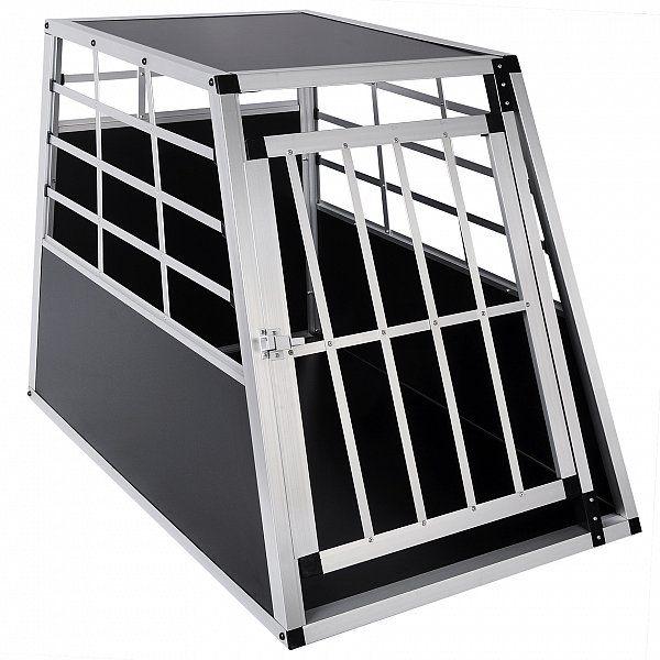 Hundetransportbox Hundebox Autotransportbox Aluminium Hund Reisebox HT2010 | Woltu