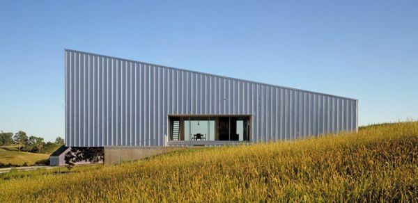 Galvanized Metal Cladding House Built on Budget | Modern House Designs