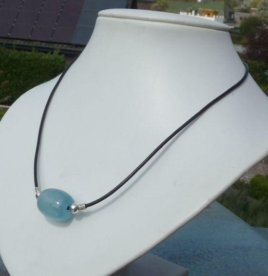 #aquamarijn ketting, in sterling zilver #deblijeekster