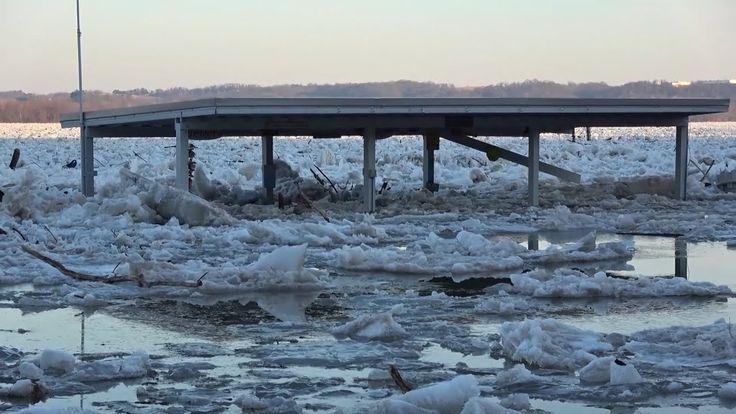 Susquehanna River Ice Jam Flooding, Wrightsville, PA - 1/26/2018