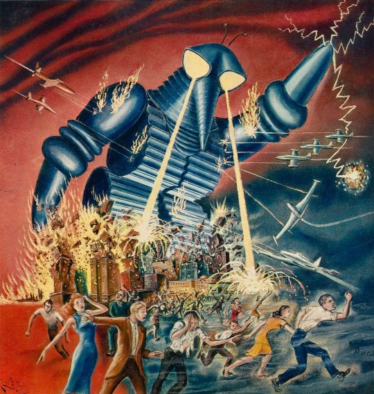 Sci Fi Art At Its Finest By Japanese: Promo Art For The Mysterians, Aka 地球防衛軍, A 1957 Sci-fi