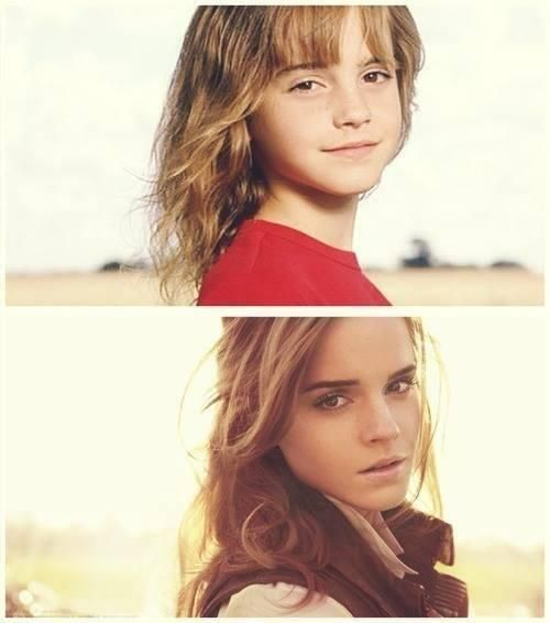Emma Watson-then and now.