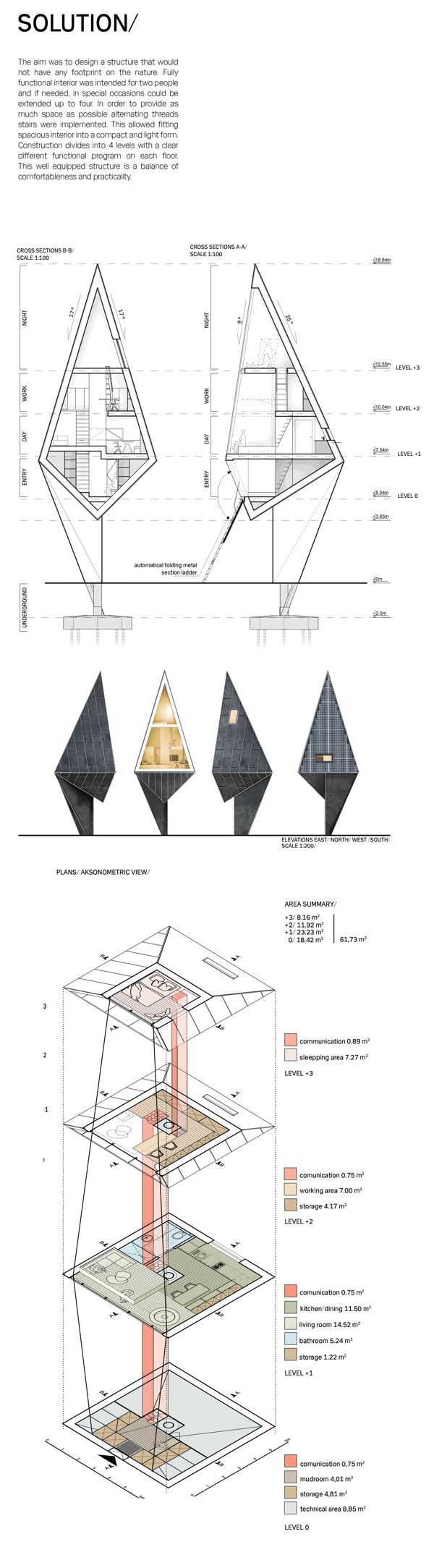 Konrad Wójcik – Primeval Symbiosis, Single Pole House for the d3 Natural Systems architectural design competition, 2013