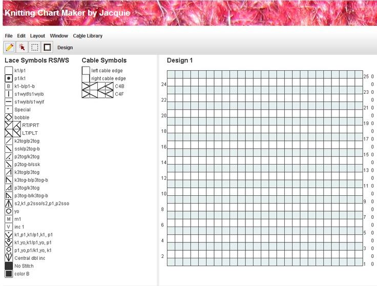 Knitting Chart Maker Ipad : Chart maker application jaquie knitting pinterest