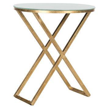 Odkládací stolek Riona, světlá deska | Bonami