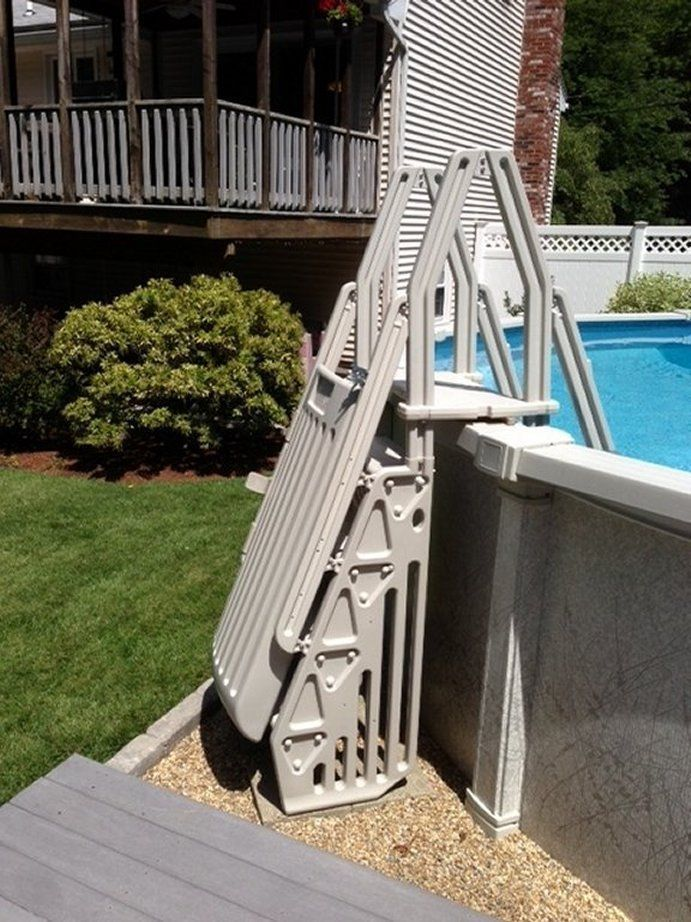 ... Above Ground Pool Steps For Handicap