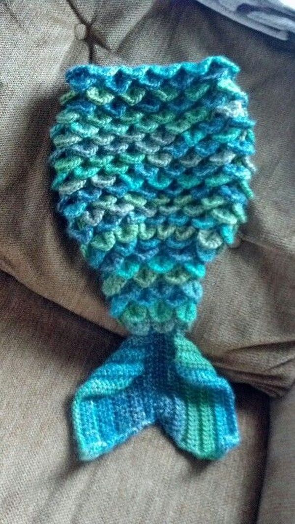 Crochet Mermaid Cocoon. It is so cute!