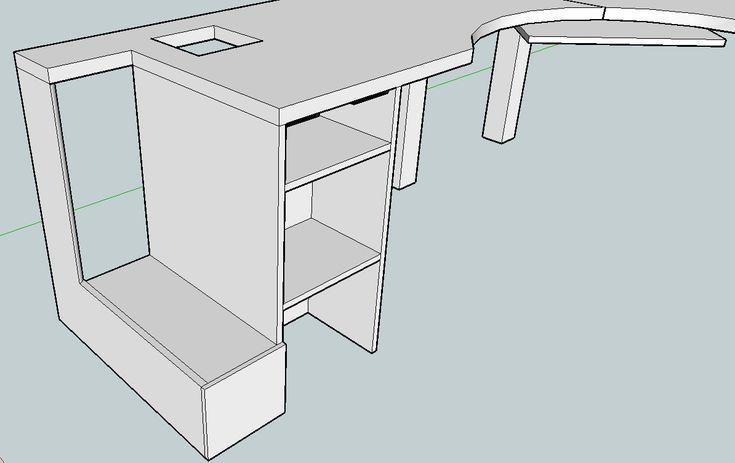Best 25 desk plans ideas on pinterest build a desk diy - Corner computer desk design plans ...