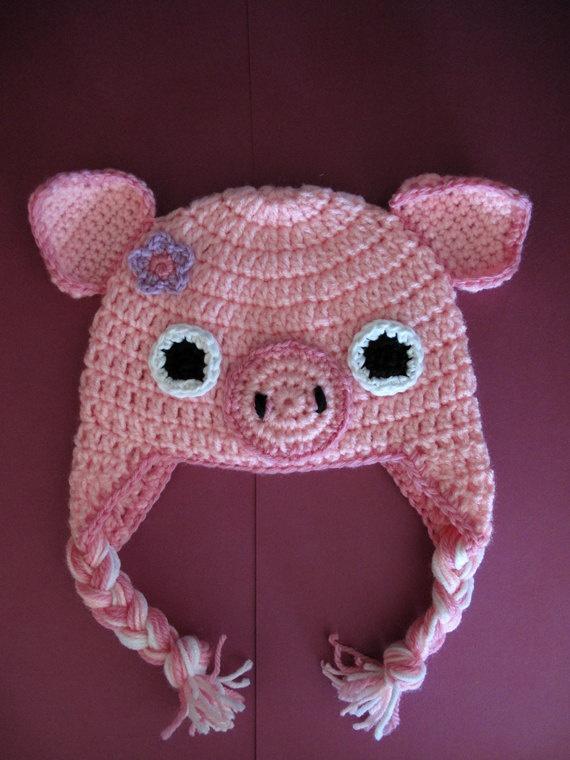 Free Crochet Baby Pig Hat Pattern : Pinterest