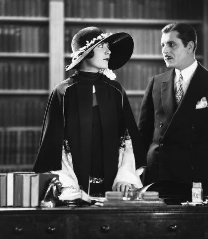 "Lois Wilson as Daisy Buchanan and Warner Baxter as Jay Gatsby in the lost 1926 version of ""The Great Gatsby"" (yay for another brunette Daisy!)"