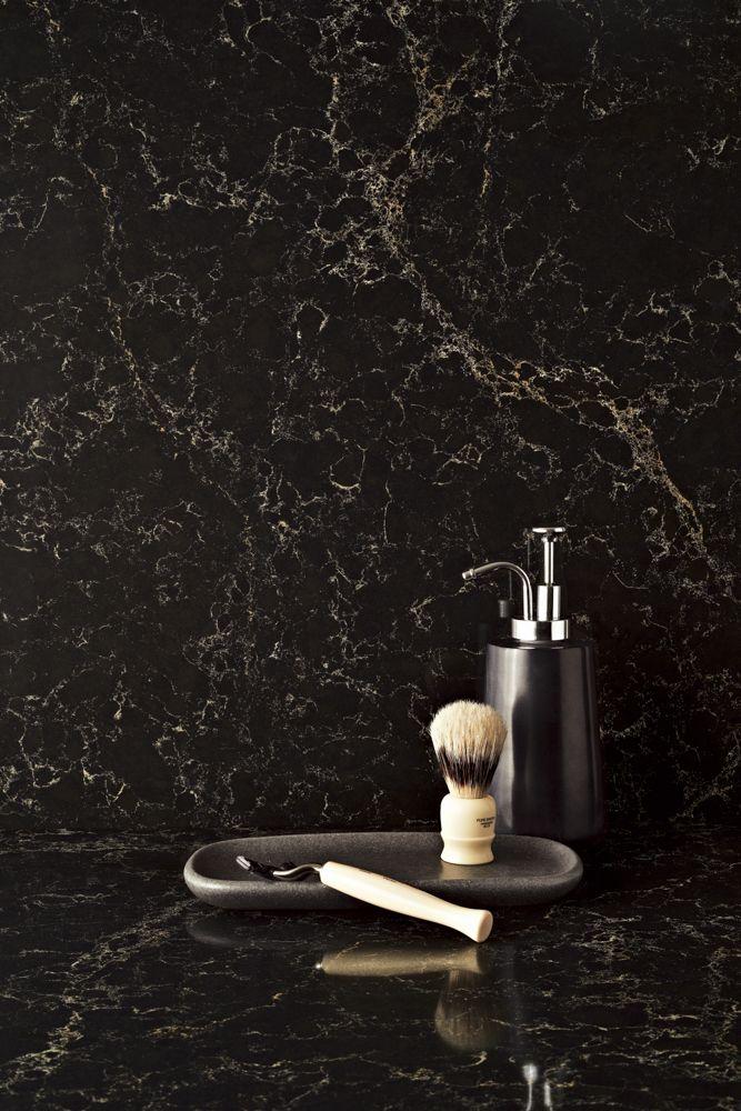Bathroom etiquette with 5100 Vanilla Noir - Caesarstone®