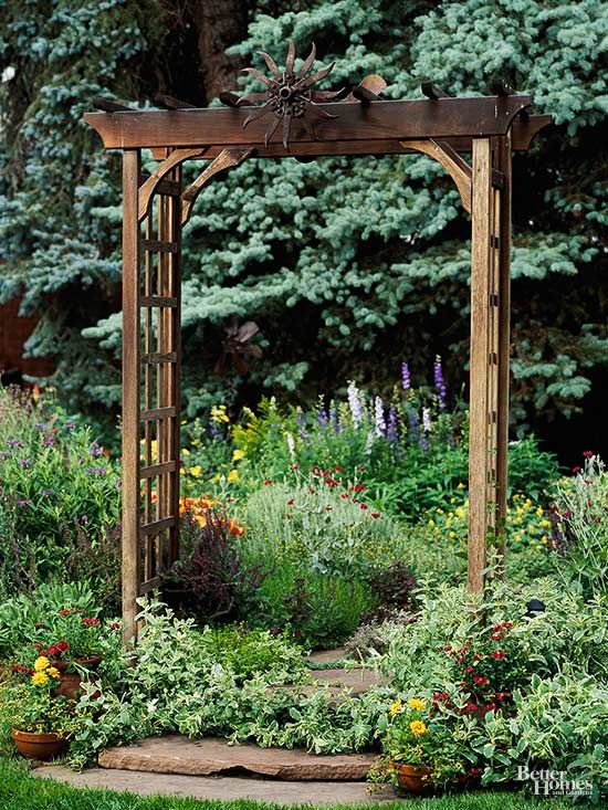Add structure and style to your garden with a beautiful arbor.