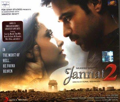 Movie: Jannat 2 Starring: Top hero Imran Hashmi and more... Songs: Mp3 & Mp4  Bollywood Movie Jannat 2 Songs Name: 1. Tu hi mera 2. Tujhe sochta hoon 3. Jannatein hoa kahan 4. Rab ka shukhrana 5. Tera didar hua