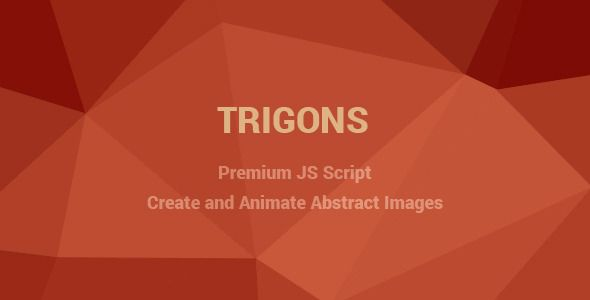 Trigons - Create and Animate Abstract SVG Images . Trigons is a flexible JS script which lets you create modern and stylish abstract SVG images with optional