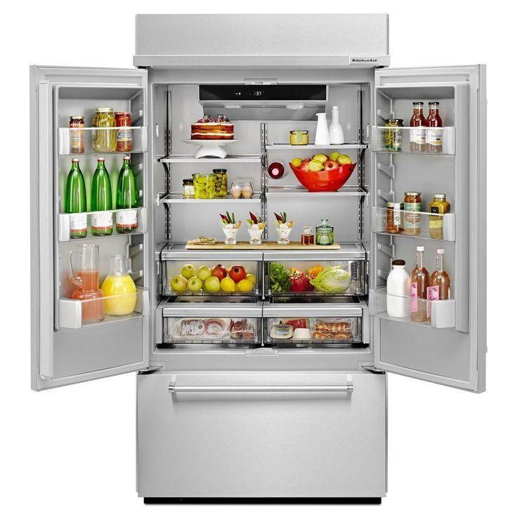 Kitchenaid 208 cu ft builtin french door refrigerator