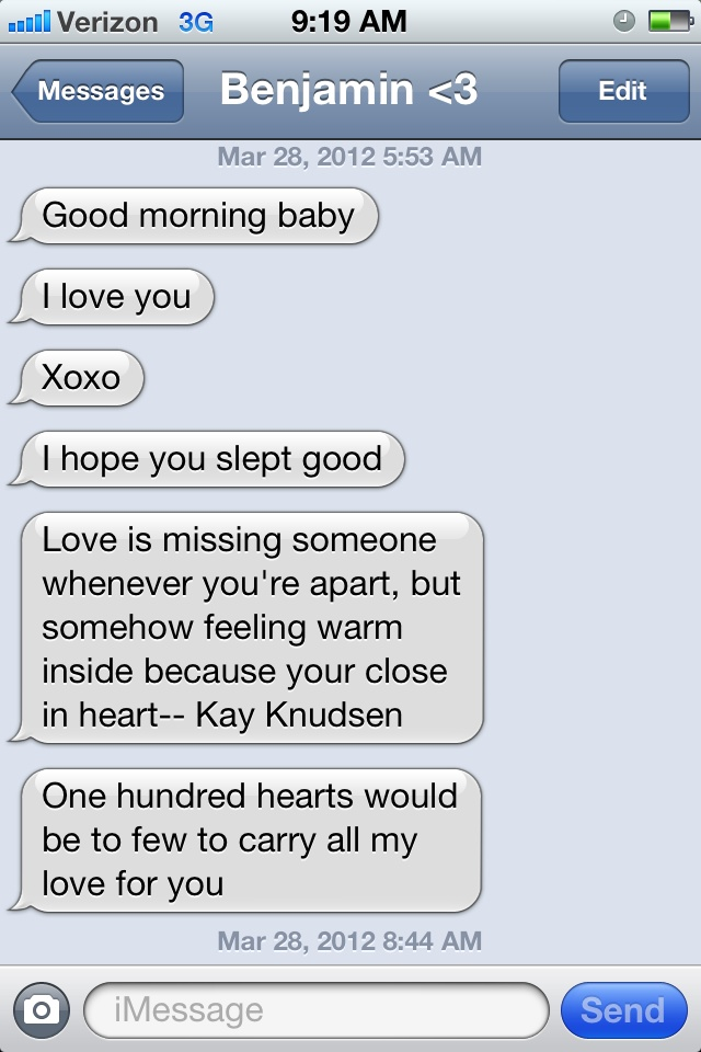 Little text art, how to text your boyfriend good morning