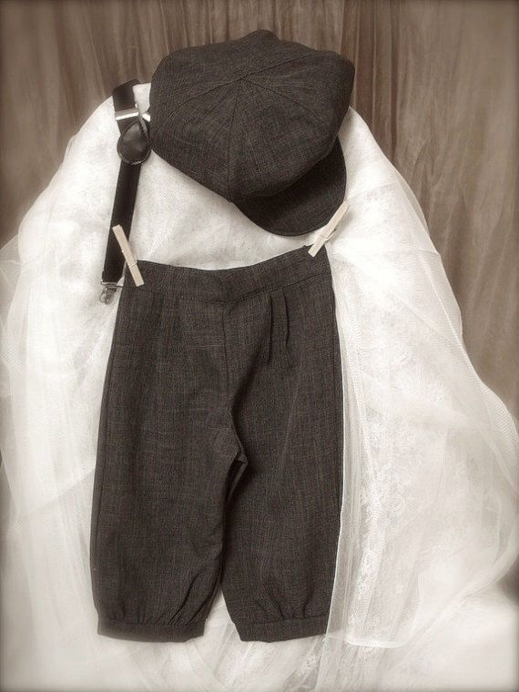 vintage charcoal grey BOYS KNICKER PANTS- little boy knickers, ring bearer pants, boys photo prop (sizes available 1-6 year old) by allfortheboys on Etsy https://www.etsy.com/listing/116038902/vintage-charcoal-grey-boys-knicker-pants