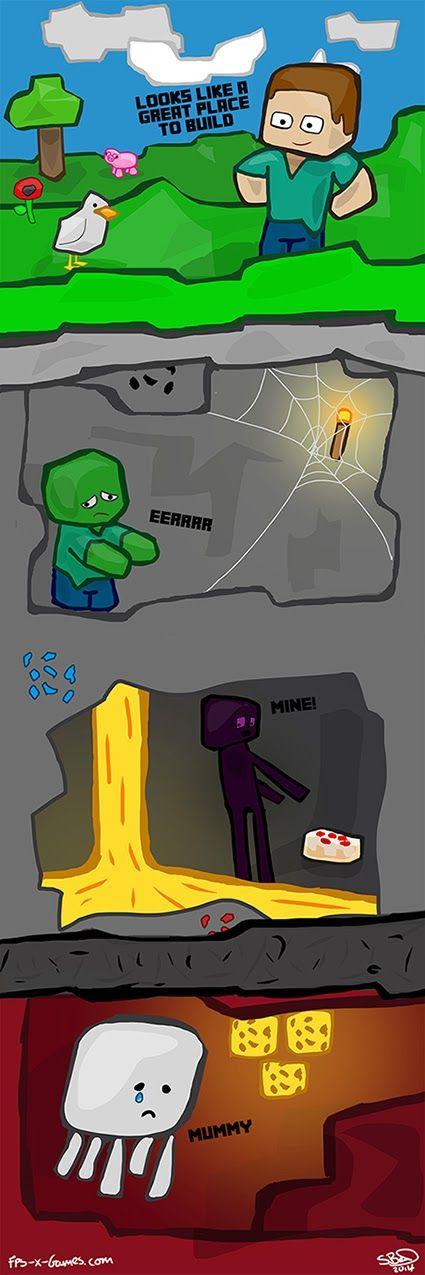 Minecraft comic fan art, build layers. #fpsxgames #minecraft #fanart