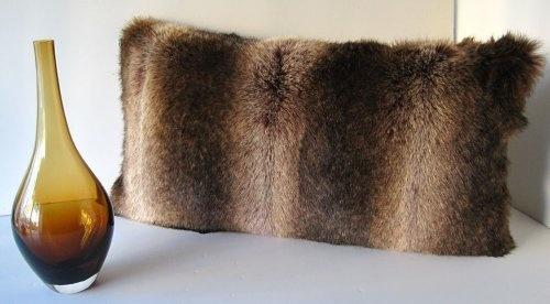"Coyote Faux Fur With Silk Velvet Oblong Pillow 12""x24"" by Wilhelmina Jacobs, http://www.amazon.com/dp/B00AWSJPG0/ref=cm_sw_r_pi_dp_IASgrb1Q58KJP"
