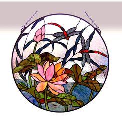 Fine Art Lighting Tiffany-style Dragonfly Window Panel