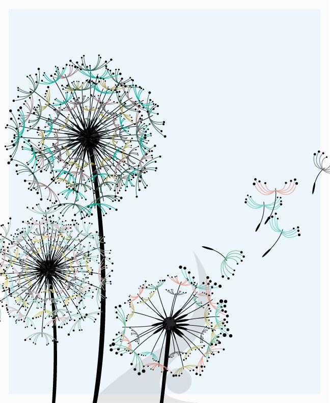 dandelion outline   dandelions design 36 dandelions as a kid i always loved the seeds of ...