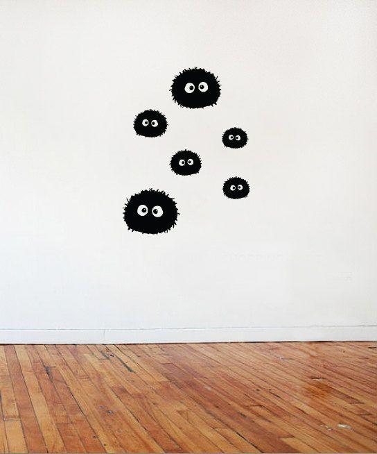 La suie de Sprites mur vinyle / taille par DistilledDesignsUK