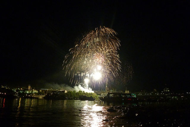 Fireworks over the Ottawa River on Canada Day. We were out in kayaks for the day on the water great way to end the day.