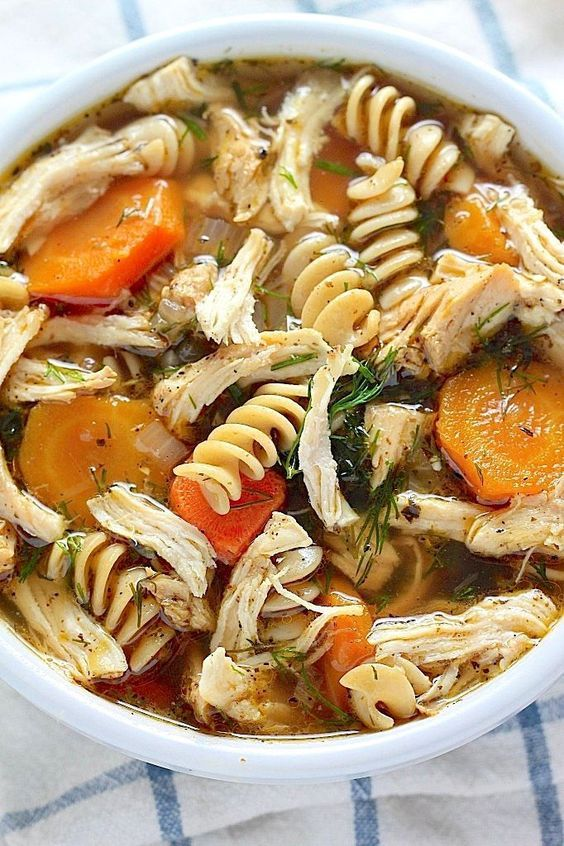 Flu Fighter Chicken Noodle Soup - everyone says this is the best chicken noodle soup they've ever tasted!!! Make it for yourself ands see why!!!