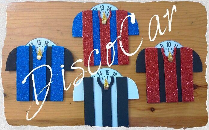 Disco orario maglia squadra calcio in carta eva, crepla, fommy