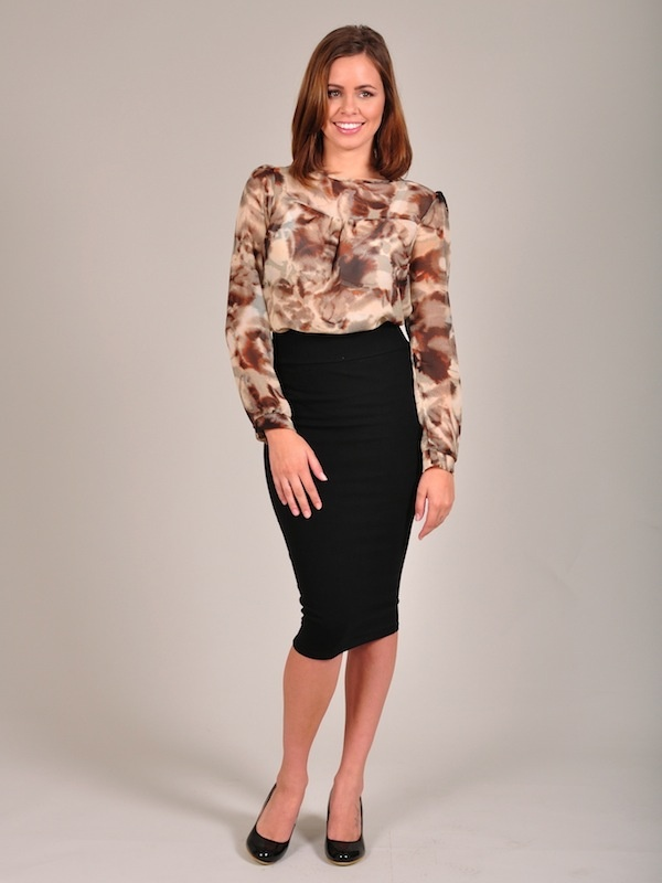 Diligo nicci animal print swing blouse | www.diligo.co.za