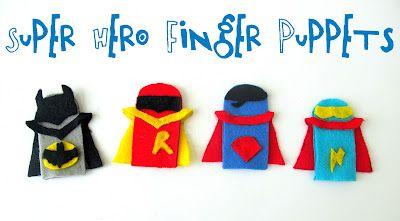 Love City: Super Hero Craft Week { super hero felt finger puppets }