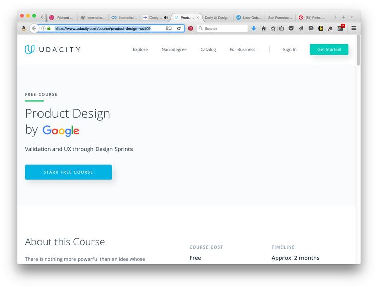 Udacity course / Google Product Design
